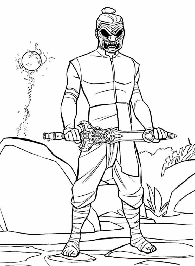 Desenho para colorir de Raya e o Último Dragão