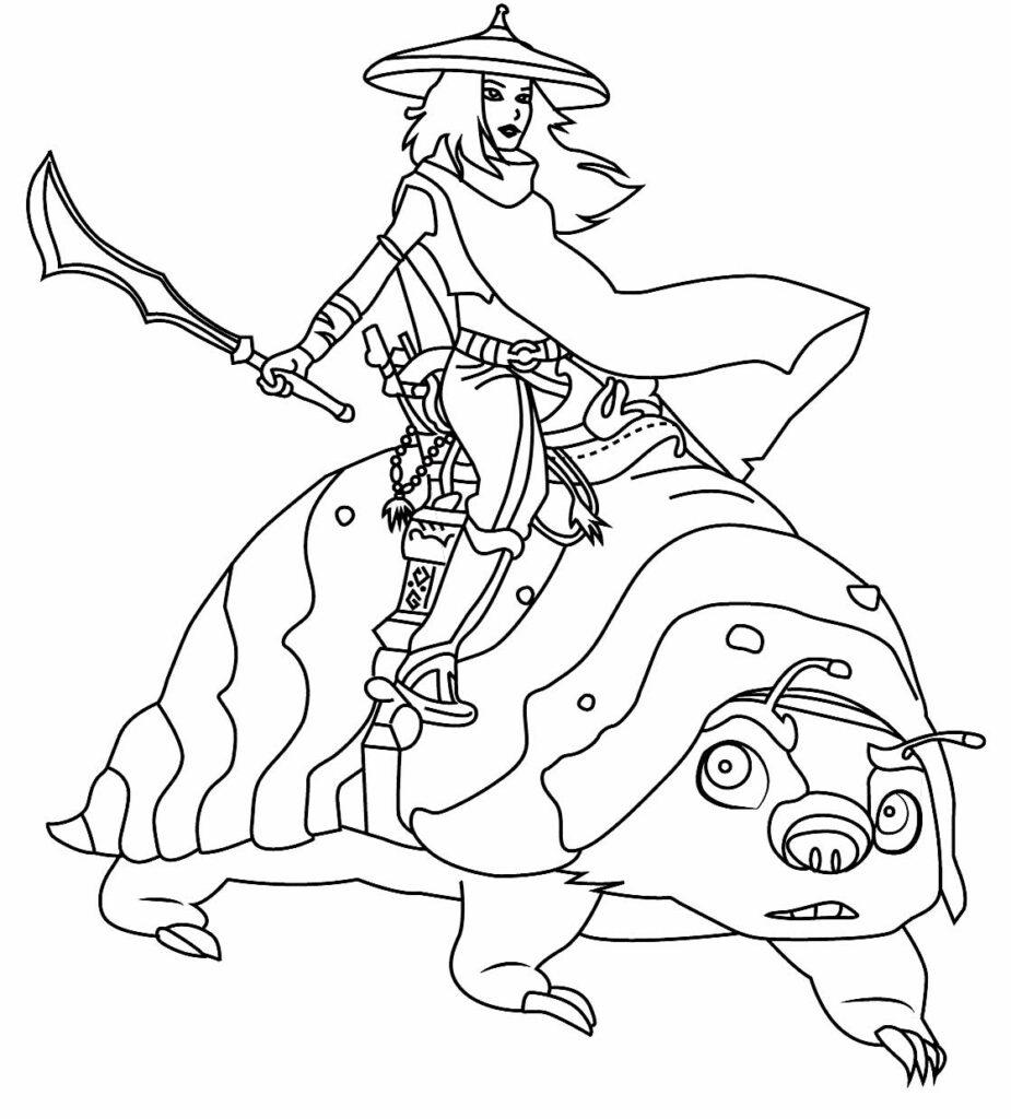 Desenho de Raya e o Último Dragão