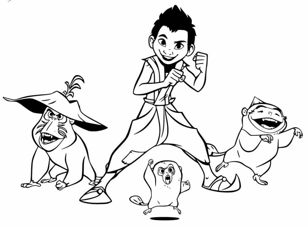 Desenho para imprimir e pintar de Raya e o Último Dragão