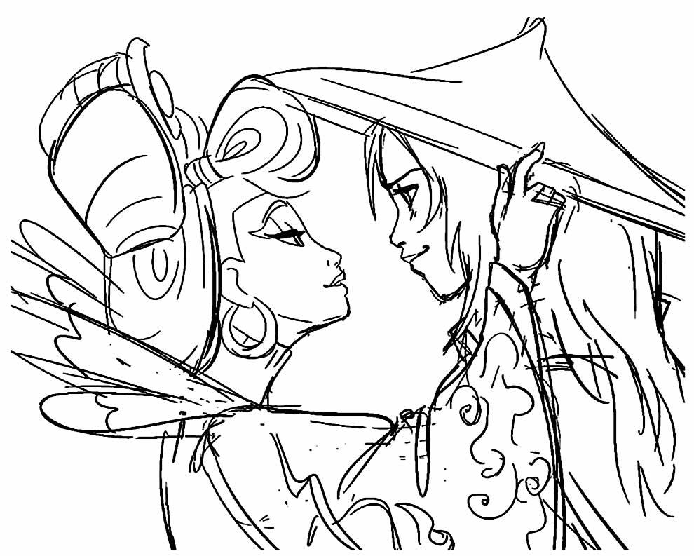 Desenho lindo de Raya e o Último Dragão