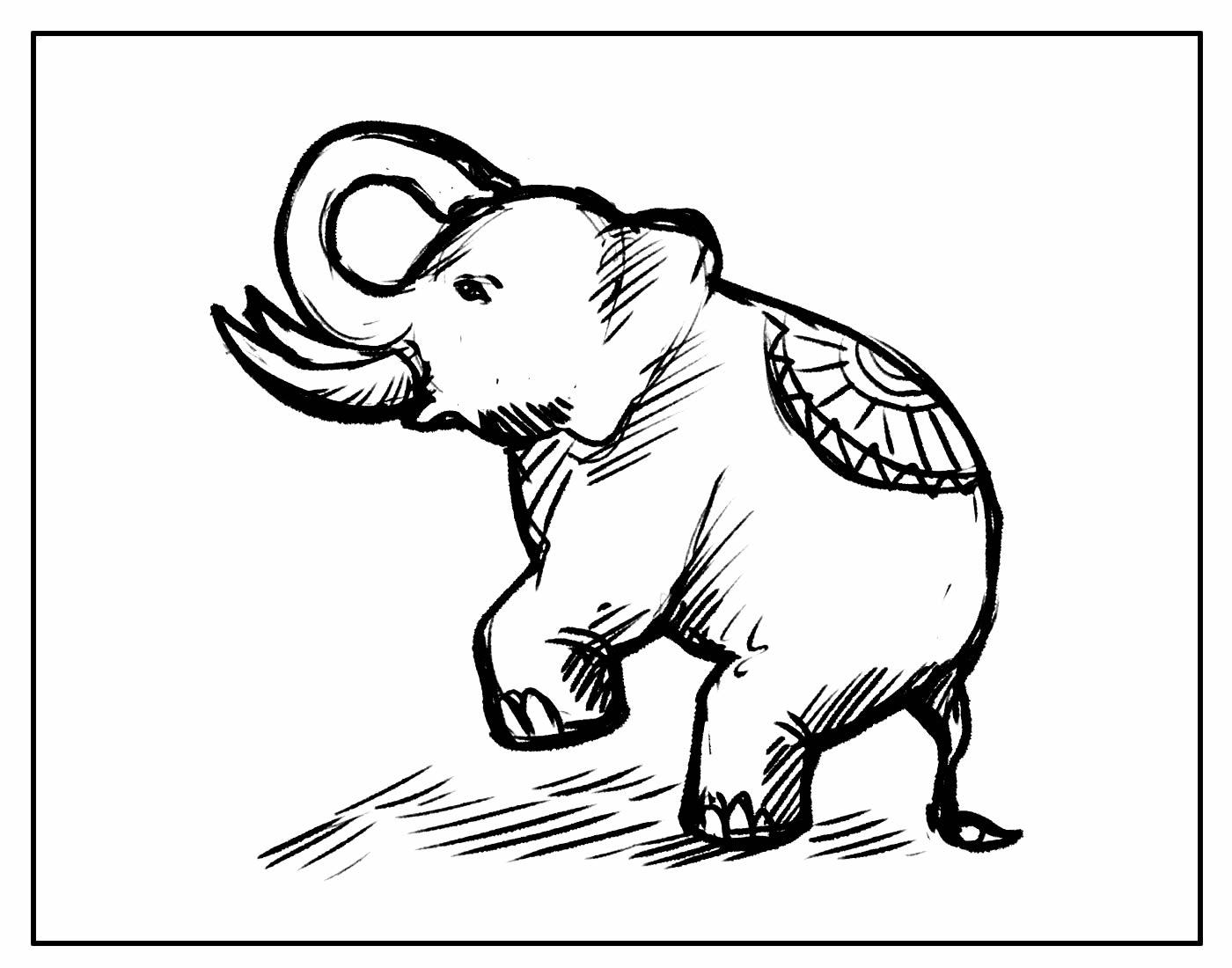 Desenho para colorir de Elefante
