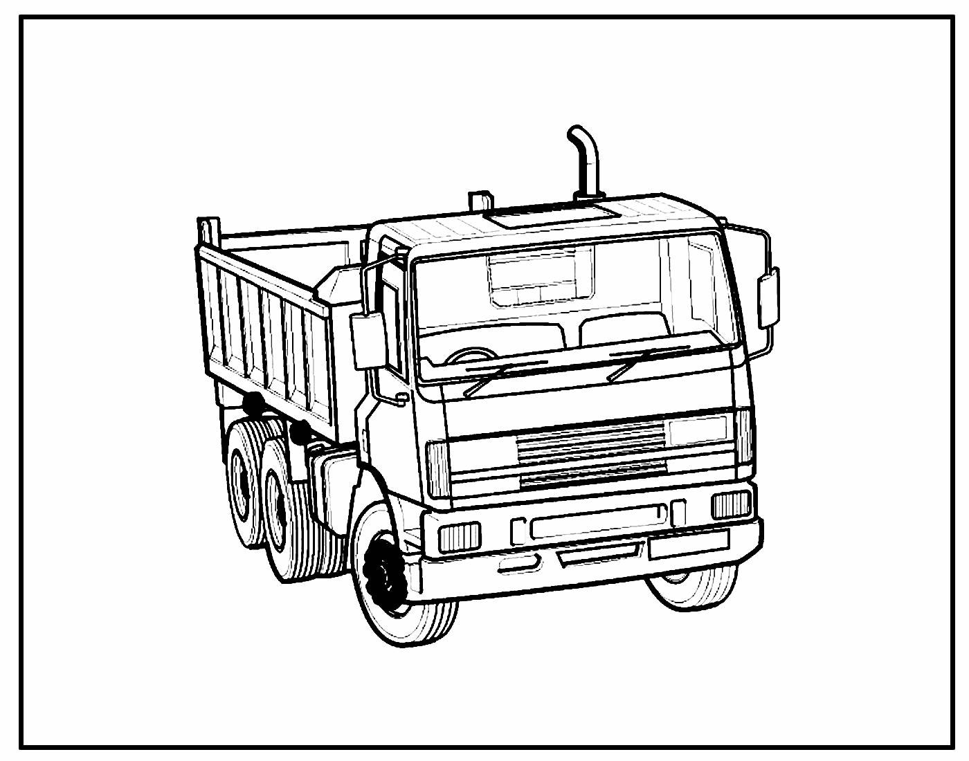 Desenho para colorir Caminhão