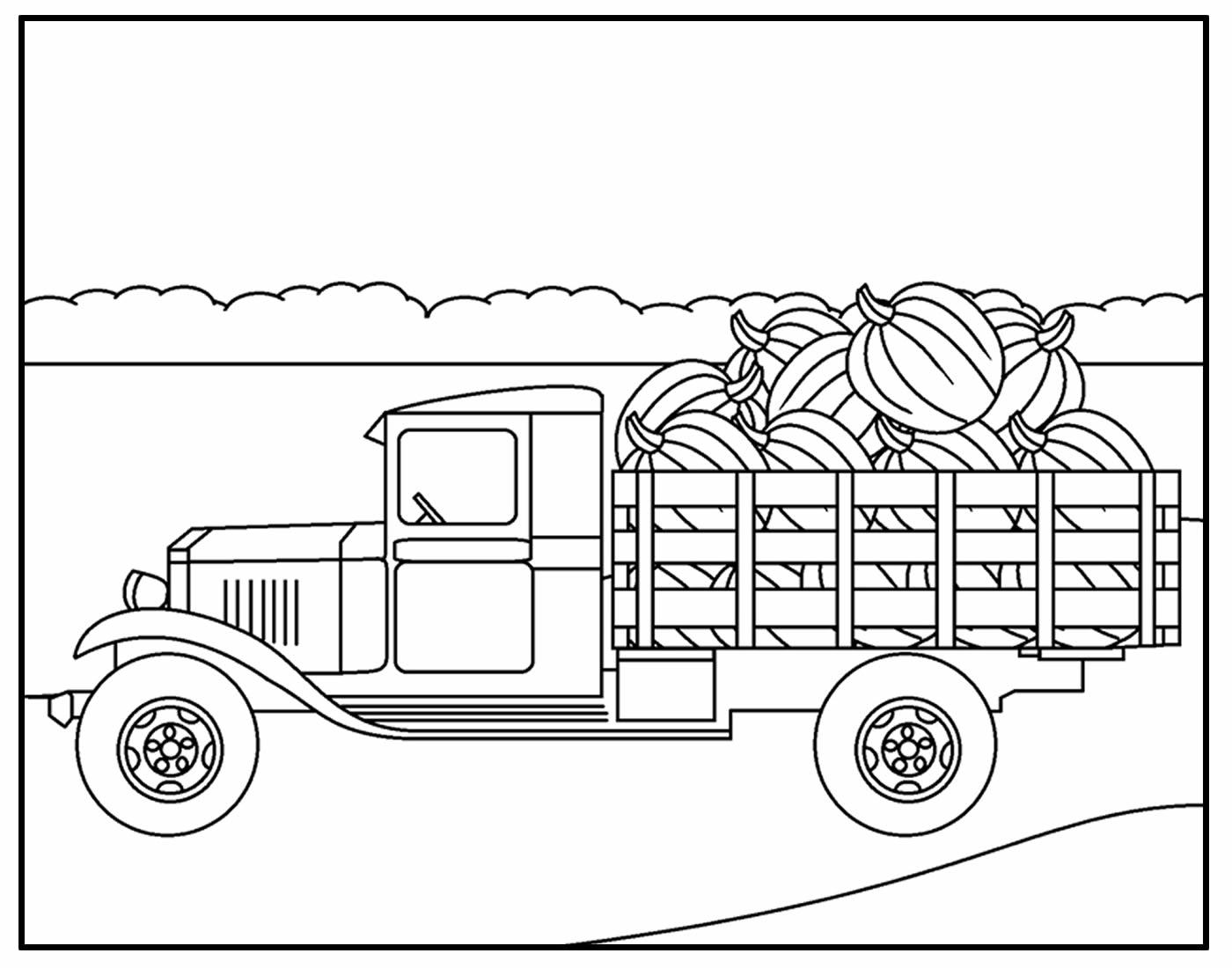Página para colorir Caminhão