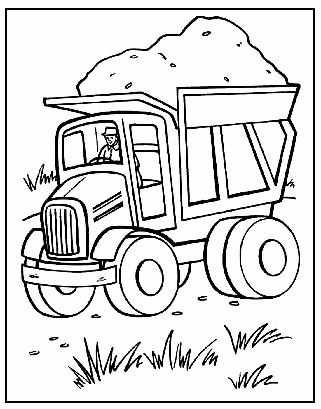 Página para colorir de Caminhão