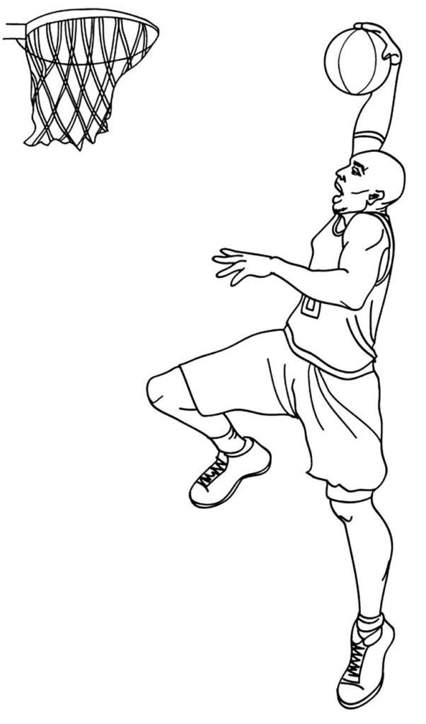 Desenho para pintar de Basquete