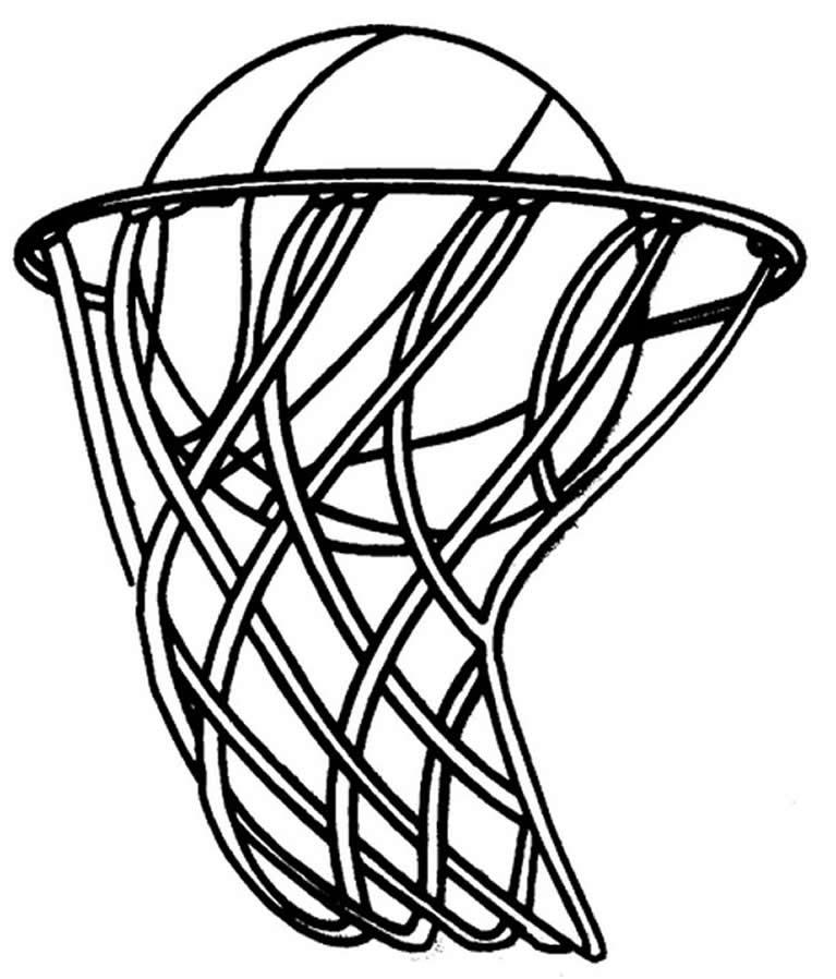 Desenho para colorir de Basquete
