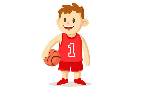 Desenho de jogador de basquete
