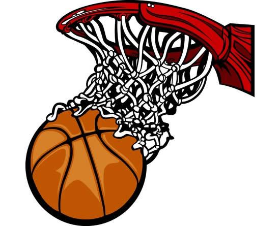 Desenho de cesta de basquete