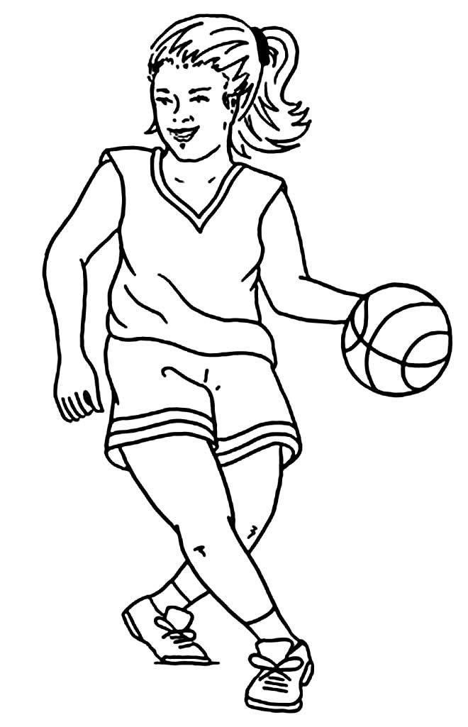 Desenho de Basquete
