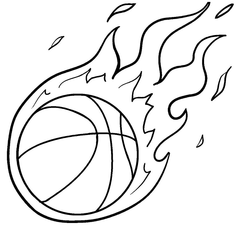 Desenho de Basquete para colorir
