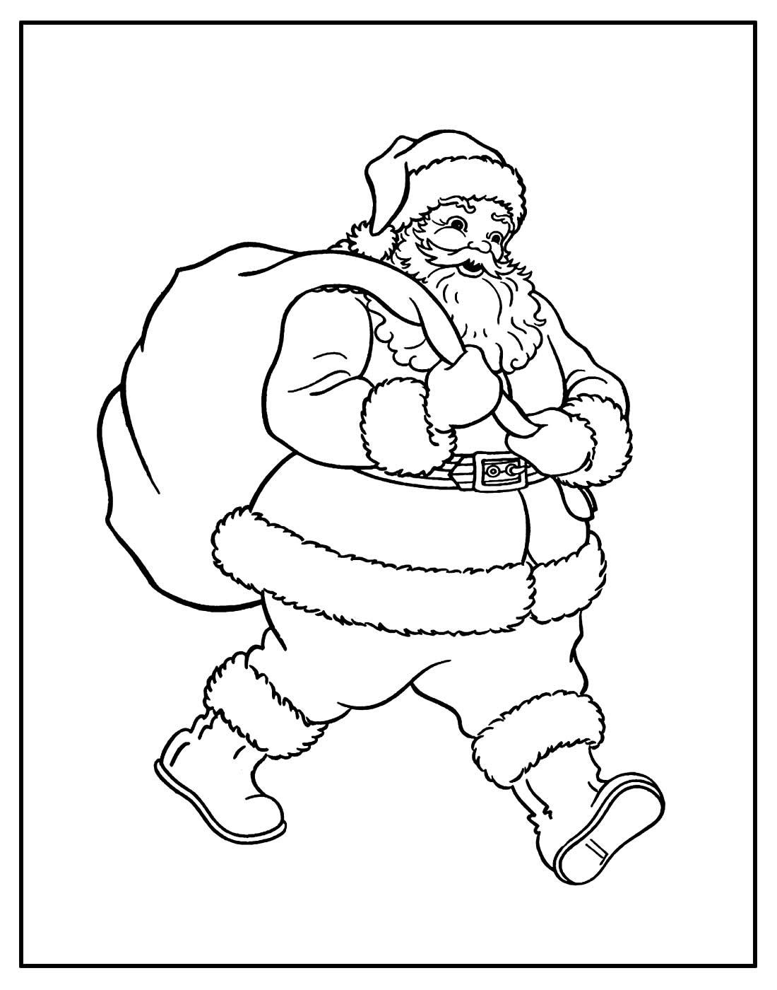 Desenhos de Natal para pintar