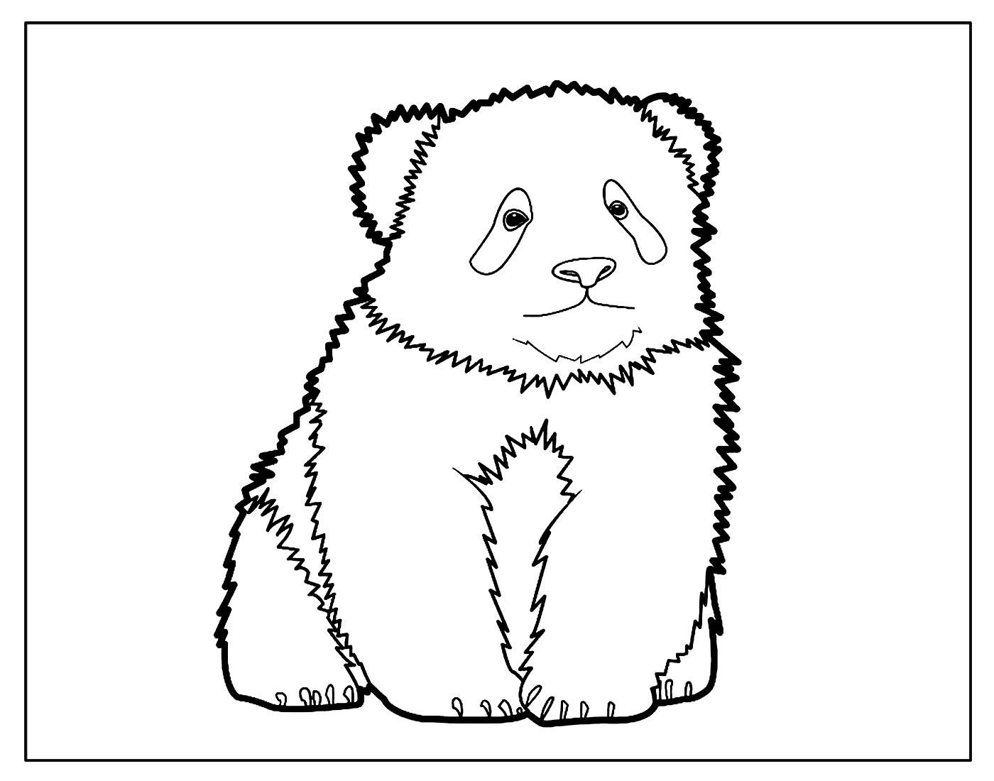 Página para colorir de Urso