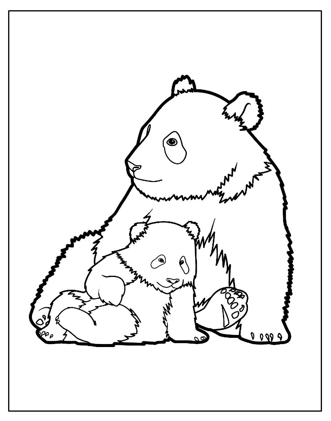 Desenho para colorir de Urso
