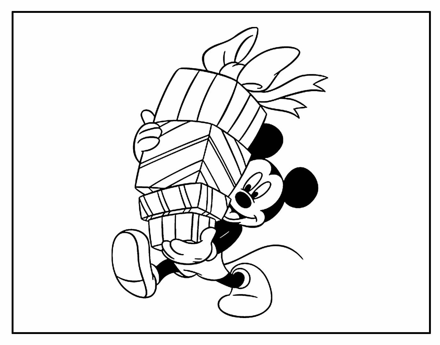 Desenho para colorir Mickey Mouse