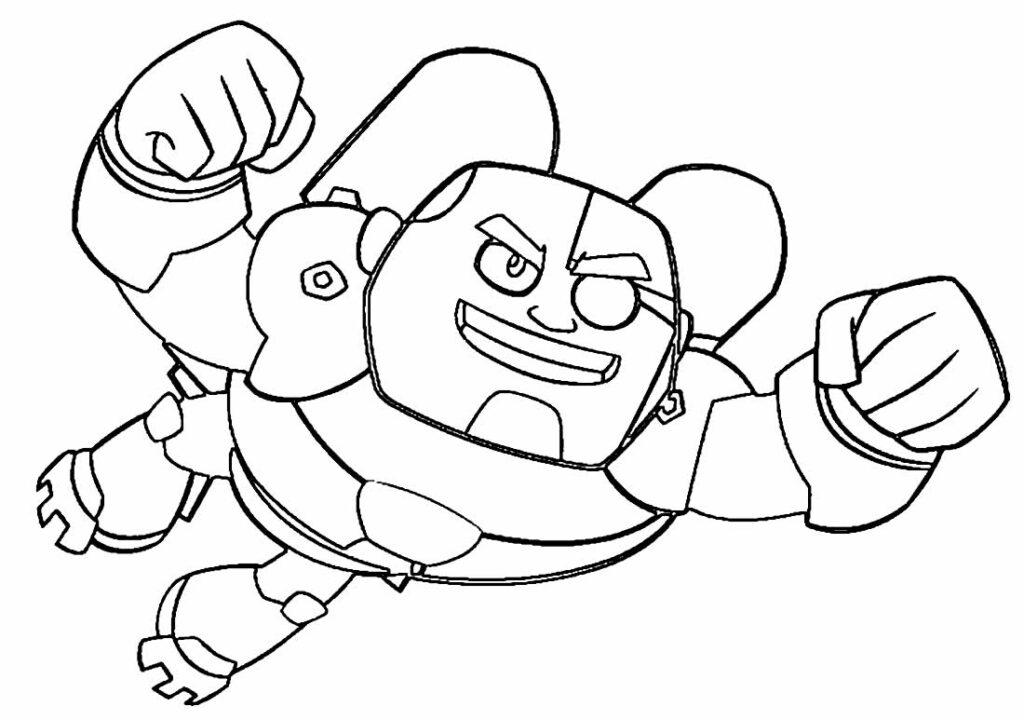 Desenho dos Jovens Titans para colorir