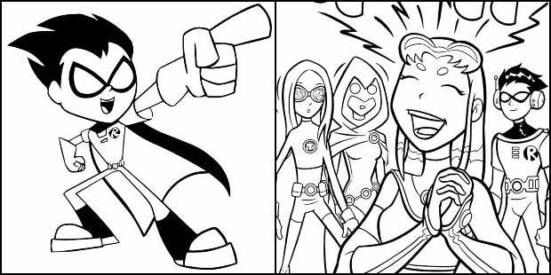 Desenhos para colorir dos Jovens Titans