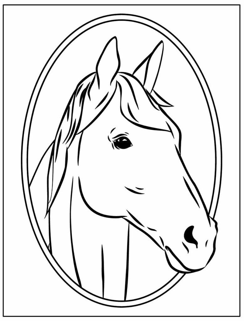 Desenhos Realista para colorir de Cavalo