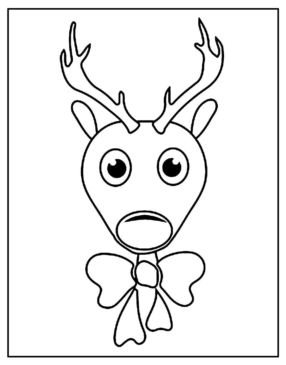 Desenho para colorir de Reina de Natal