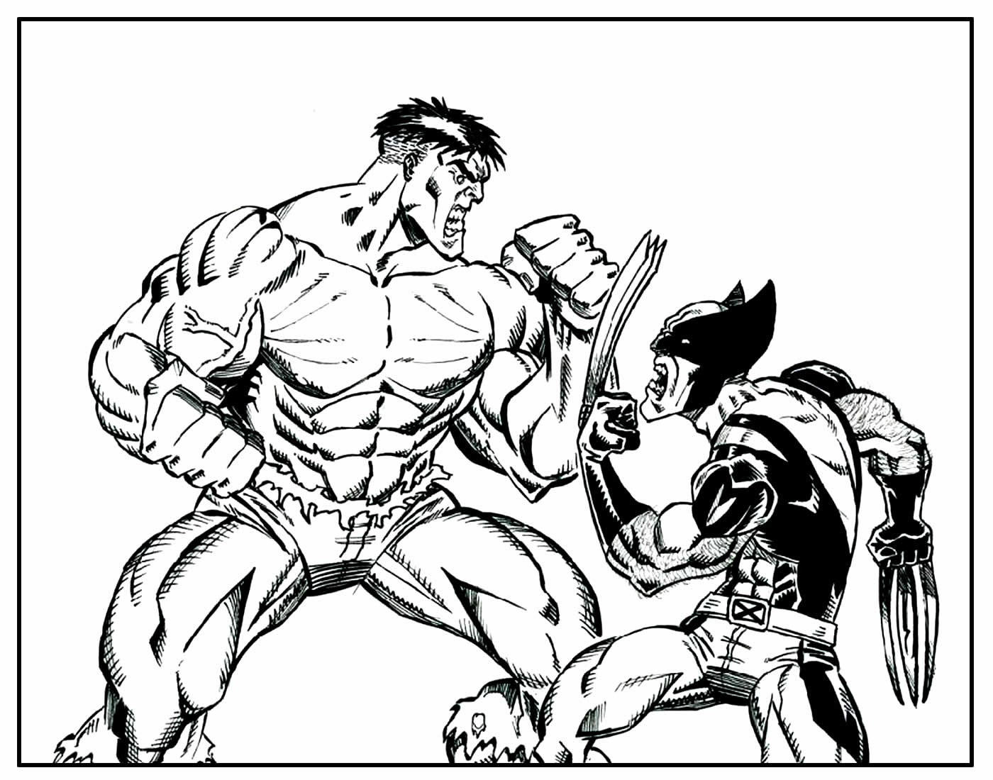 Desenho para colorir de Wolverine
