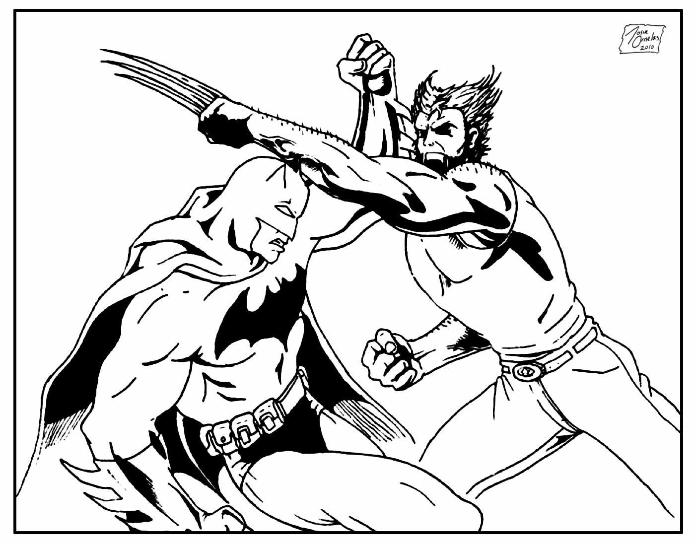 Desenho para pintar de Wolverine