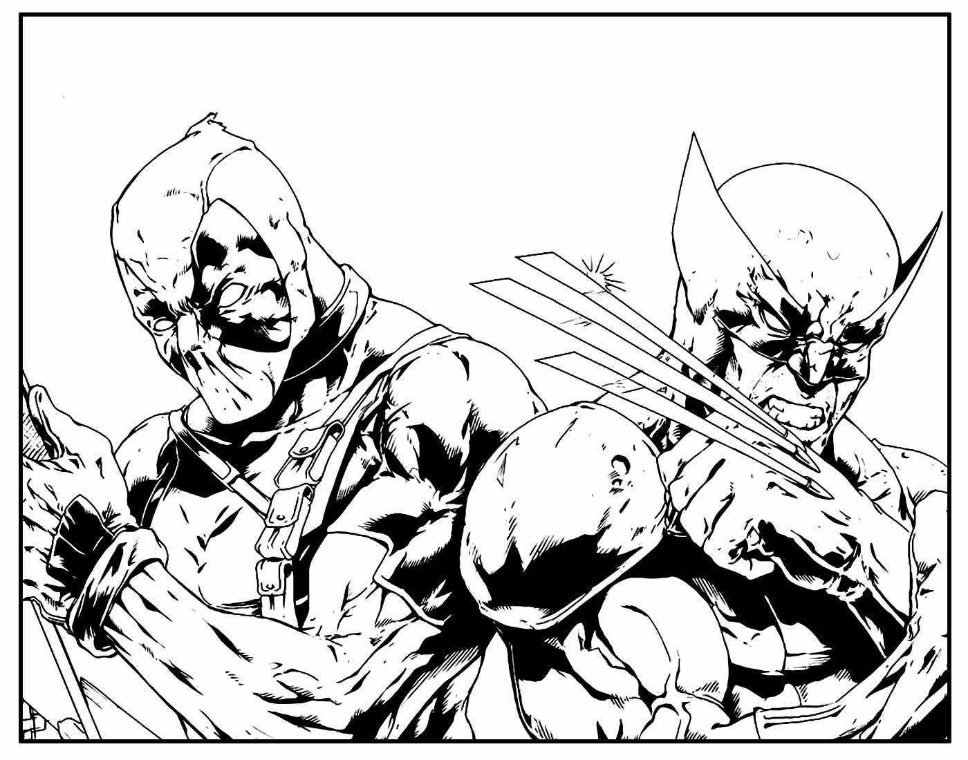 Páginas para pintar de Wolverine