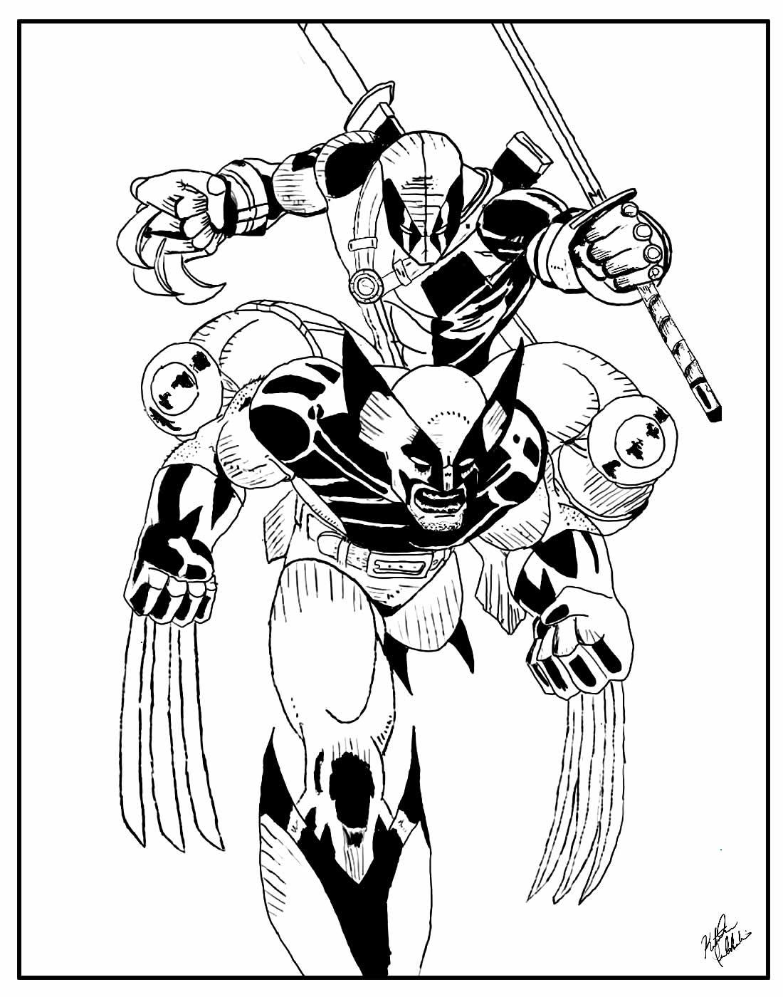 Páginas para colorir de Wolverine